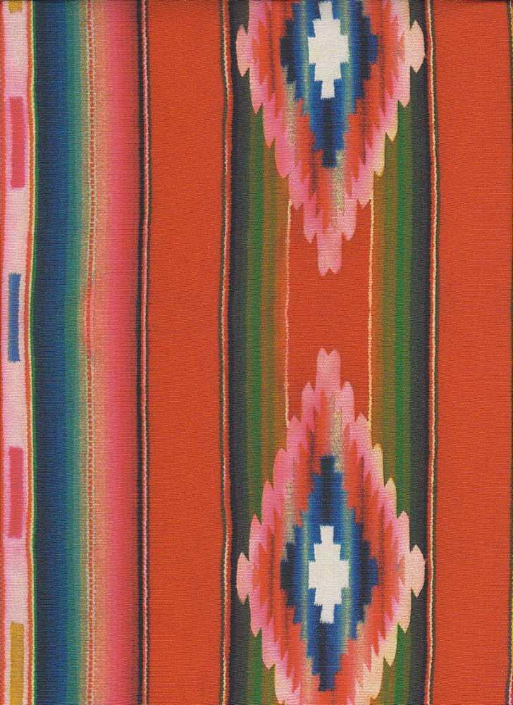 206-A100100-64 / RED         / 100% Rayon Gauze Print