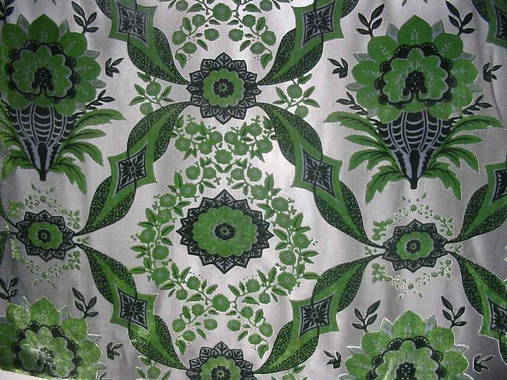 LJWB2188 / GREEN / SILK VELVET BURN OUT, 30% SILK/ 70% RAYON