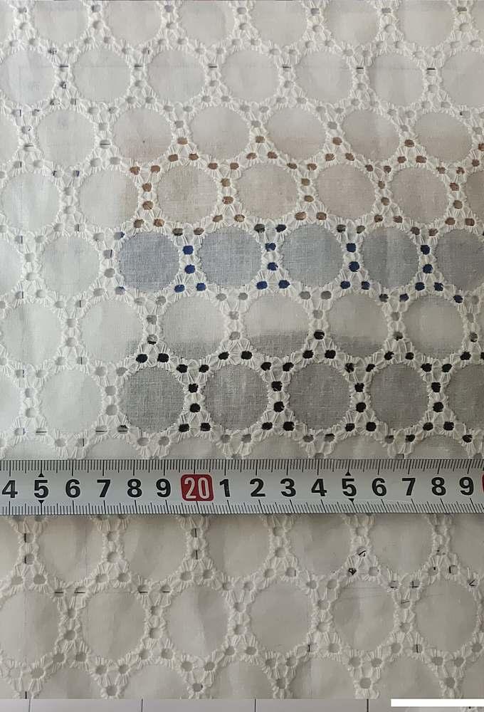 GSC-9275 / WHITE         / COTTON VOILE EMBROIDERY, 100% COTTON