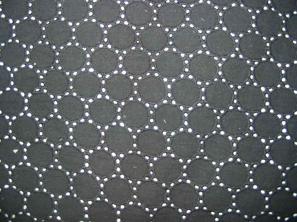 GSC-9275 / BLACK                 / COTTON VOILE EMBROIDERY, 100% COTTON