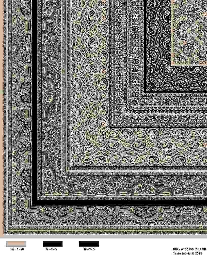 206-A100156-30 / BLACK         / Rayon Spandex Jersey Print