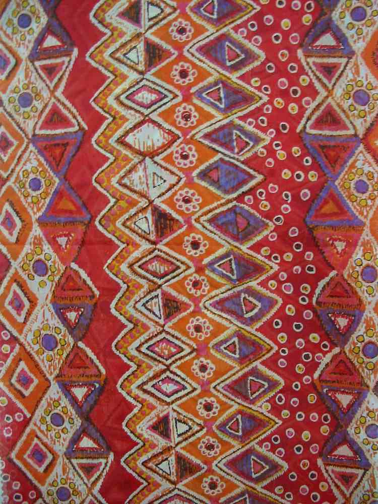 FIE-206-514-4 / RED         / SILK/COTTON VOILE PRINT 9 M/M