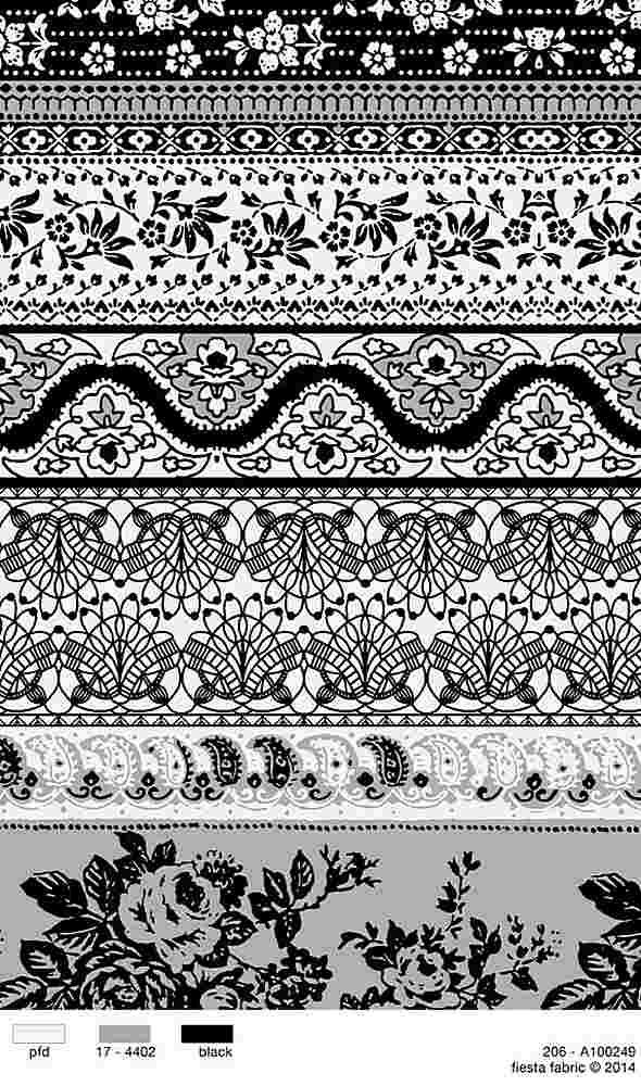 206-A100249-35 / BLACK         / 100% Rayon Challis Print