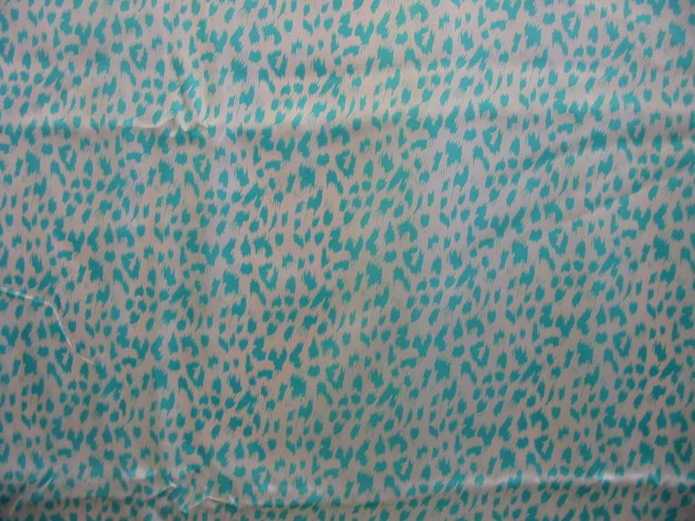 HT0405205-2 / TURQUOISE         / SILK CHARMEUSE PRINT 16 M/M