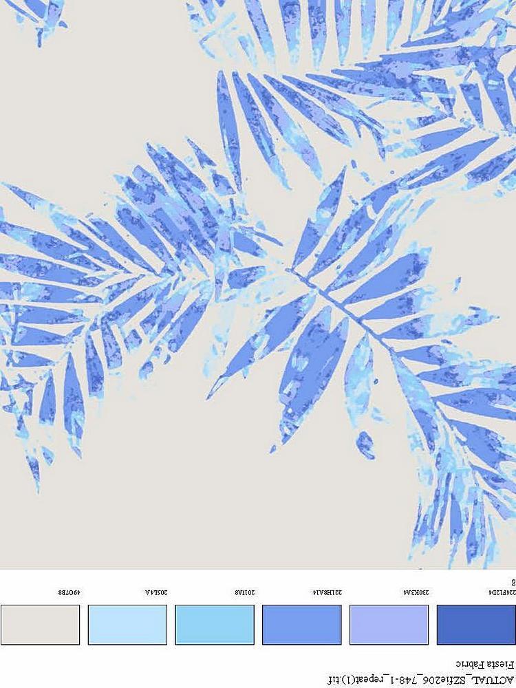 FIE-206-748-35 / BLUE         / 100% Rayon Challis Print