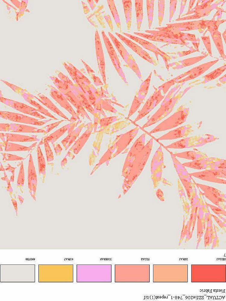 FIE-206-748-35 / CORAL         / 100% Rayon Challis Print