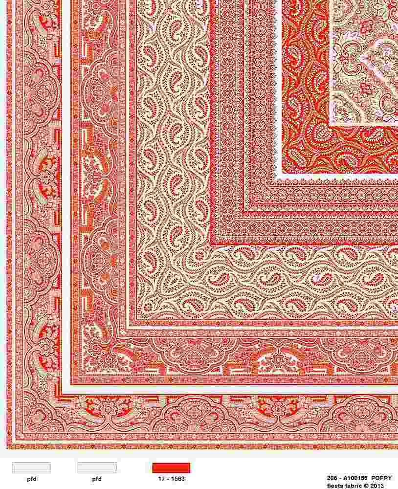 206-A100156-30 / POPPY         / Rayon Spandex Jersey Print