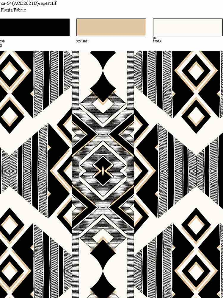 CA-054-64 / BLACK         / 100% Rayon Gauze Print