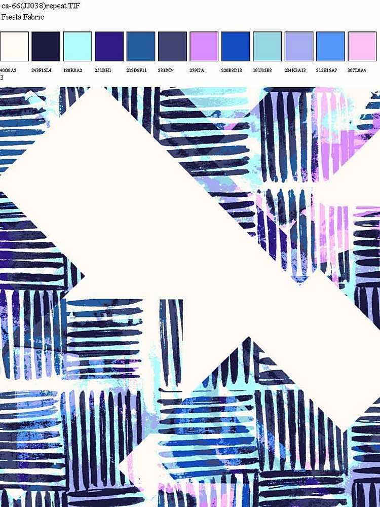 CA-066-35 / MULTI BLUE                 / 100% Rayon Challis Print