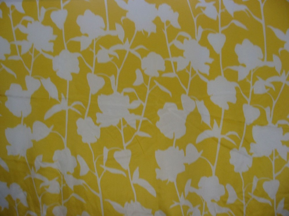 FIE-206-542-4 / YELLOW         / SILK/COTTON VOILE PRINT 9 M/M
