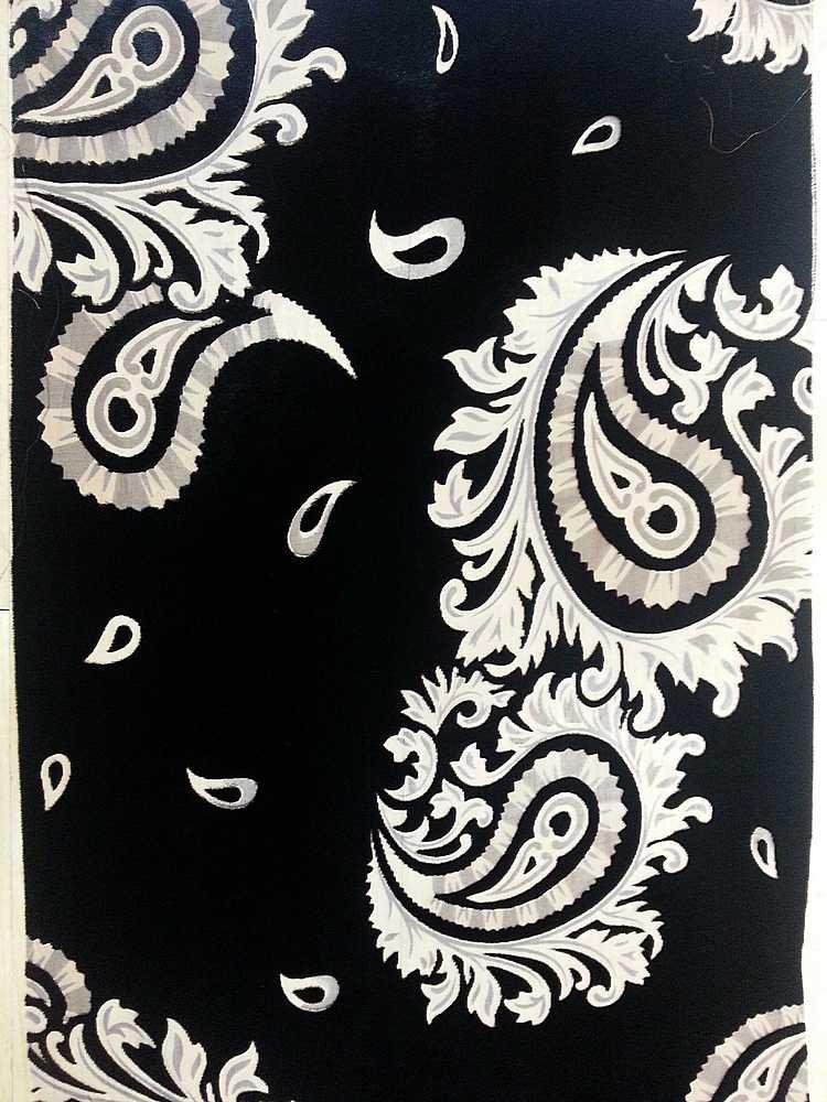 H001 / BLACK                 / Rayon/Nylon Velvet Burn Out