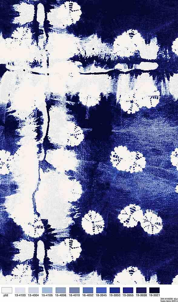 206-A100288-35 / BLUE         / 100% Rayon Challis Print