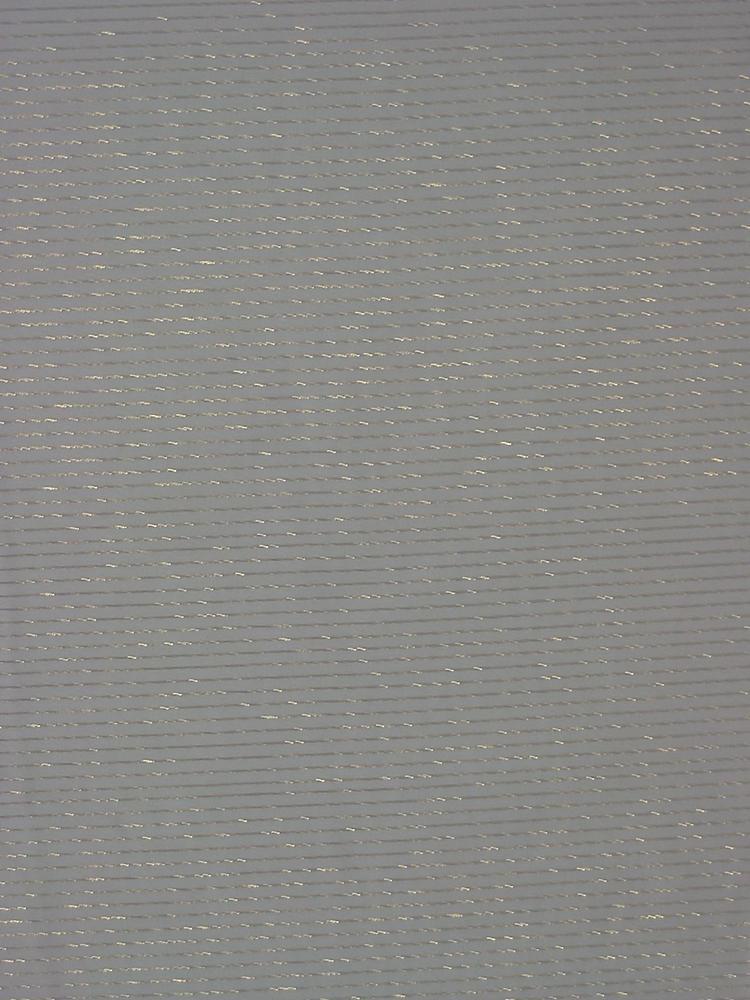 #593-7 / PFD/GOLD        / SILK STRIPED LUREX CHIFFON, 8 M/M