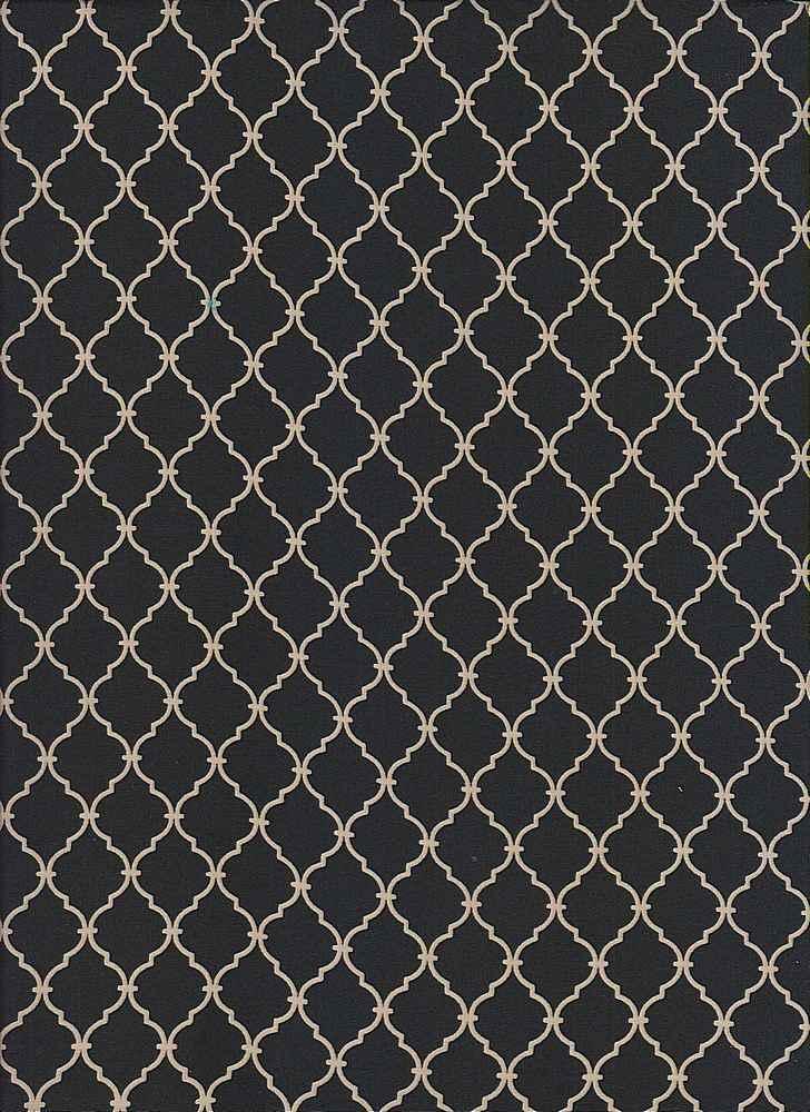 1463-35 / BLACK/TAUPE / 100% Rayon Challis Print