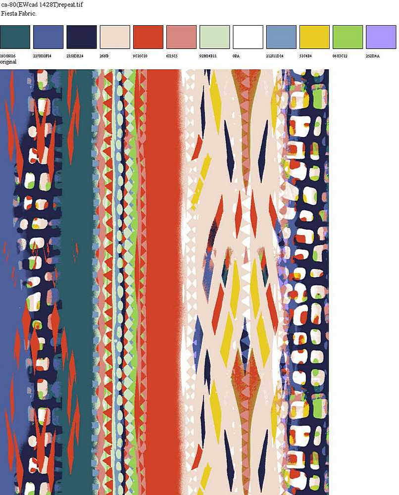 CA-080-35 / BLUE         / 100% Rayon Challis Print
