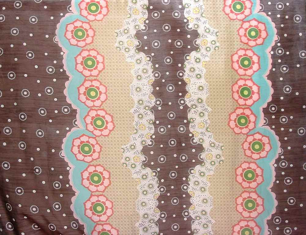 FIE-206-438 / #1 BROWN         / 30% SILK 70% COTTON VOILE PRINT 9MM