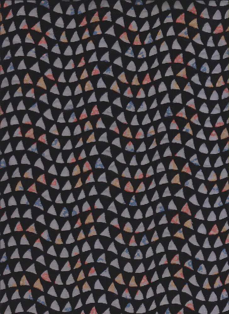 2117-58 / BLACK                 / Nylon Rayon Velvet Burn-Out With Print