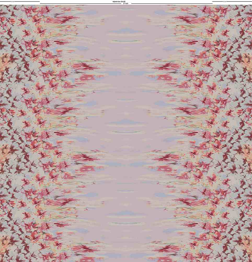 CA-136-35 / PINK         / 100% Rayon Challis Double Border Print
