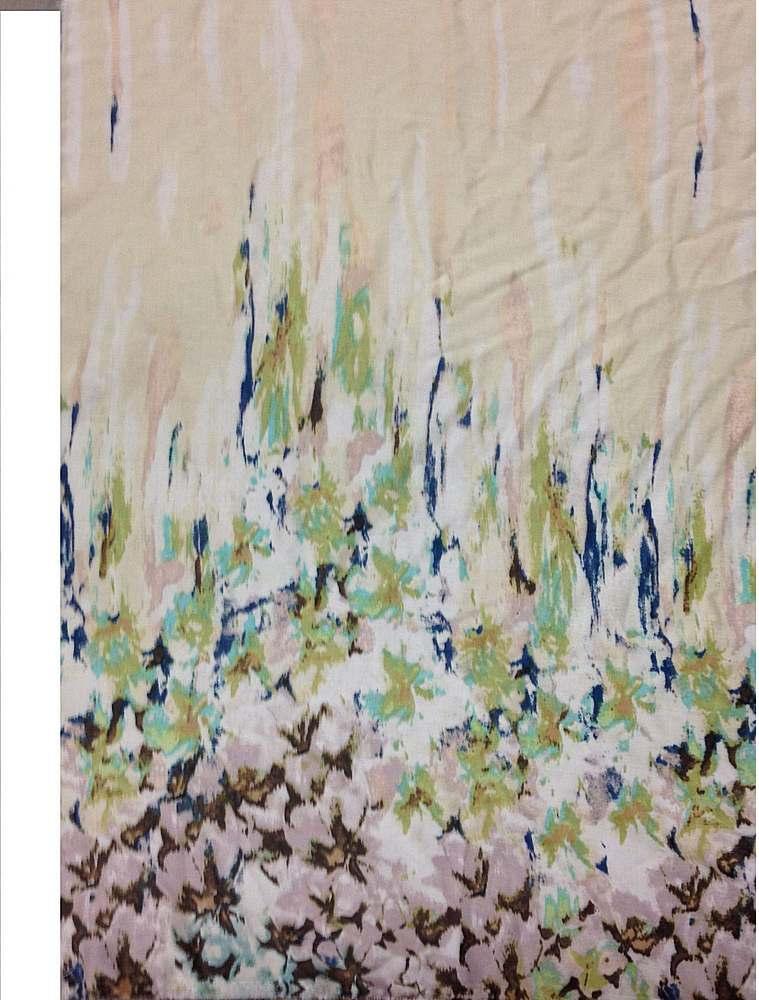 CA-136-35 / MINT         / 100% Rayon Challis Double Border Print