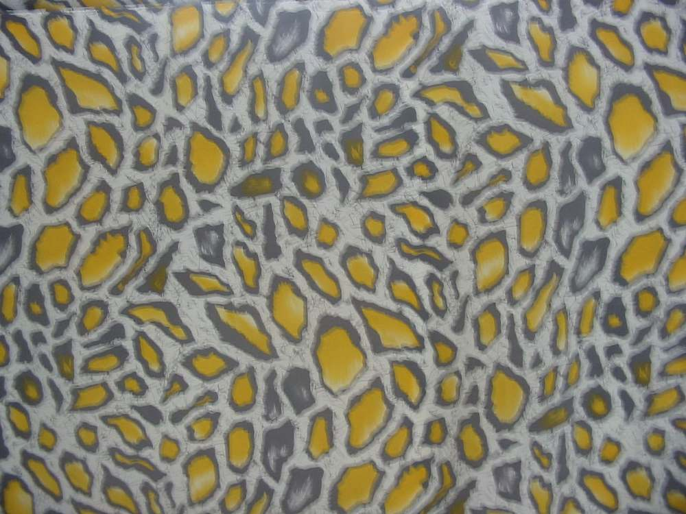 FIE-206-548-5 / YELLOW     / SILK JERSEY KNIT PRINT 140 GSM