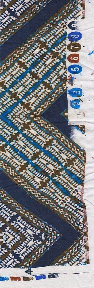 CA-122-35 / BLUE         / 100% Rayon Challis Print