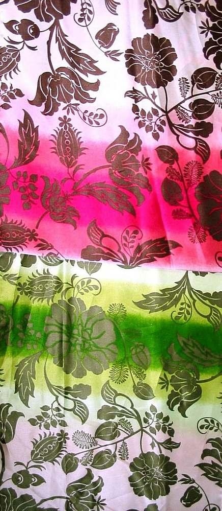 FIE-2006-154 / #1 GREEN                 / 100% Silk Charmeuse Print   16 M/M