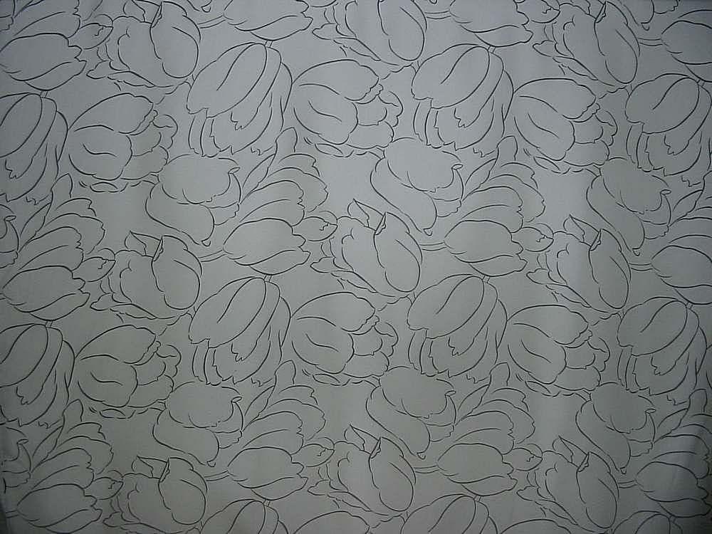 632-35 / WHITE/BLACK         / 100% Rayon Challis Print