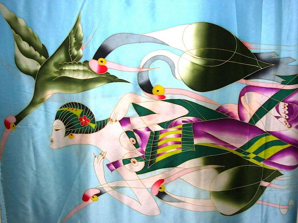 #582 / BLUE         / 100% Silk Charmeuse Print 16 M/M