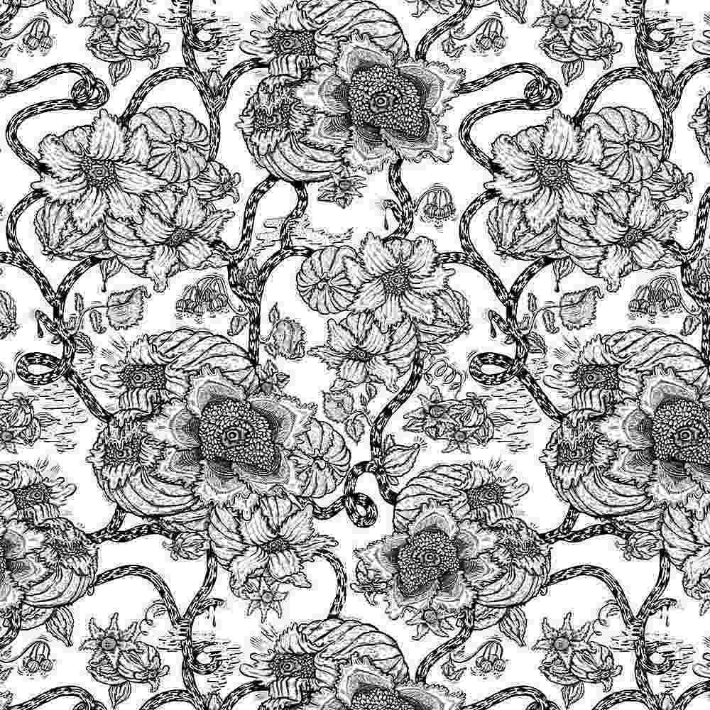 2156-30 / PFD/BLACK         / Rayon Spandex Jersey Print 195gsm