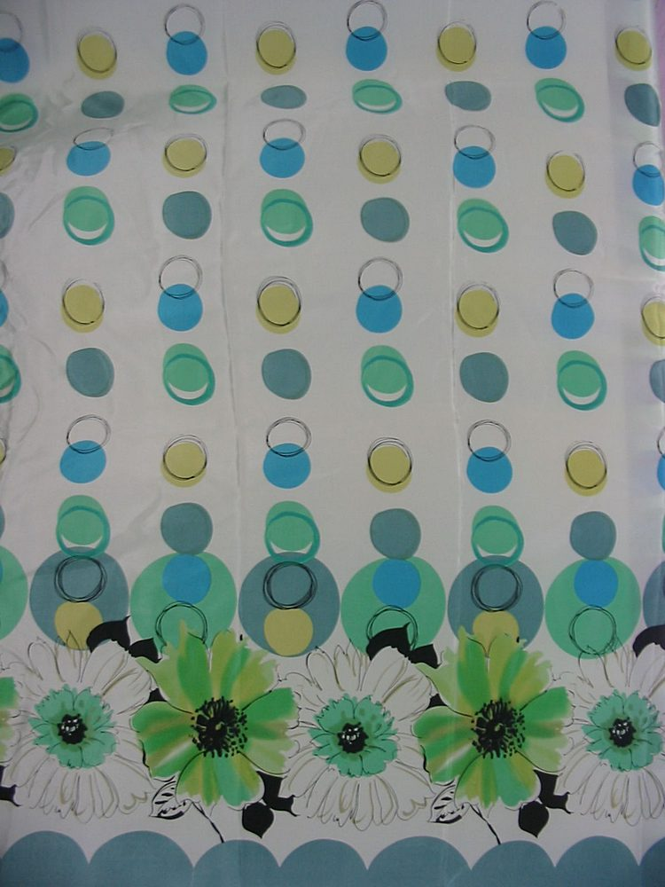 FIE-206-556-3 / MINT      / SILK CDC SINGLE-BORDER PRINT 16 M/M