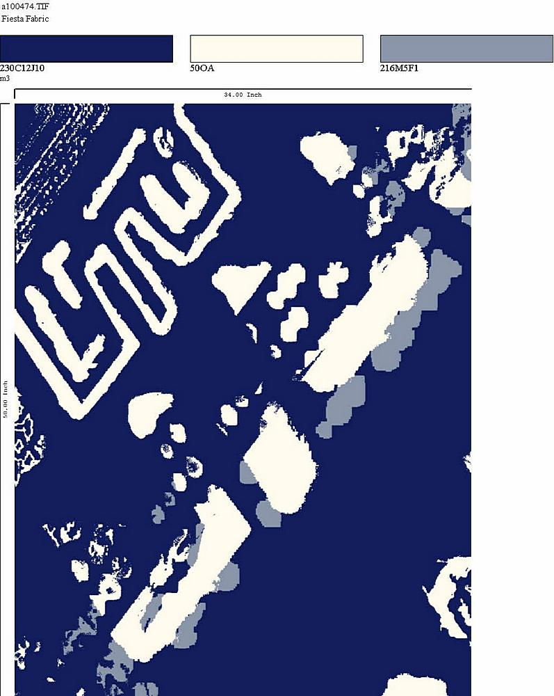 206-A100474-30 / NAVY         / Rayon Spandex Jersey Print 180gsm