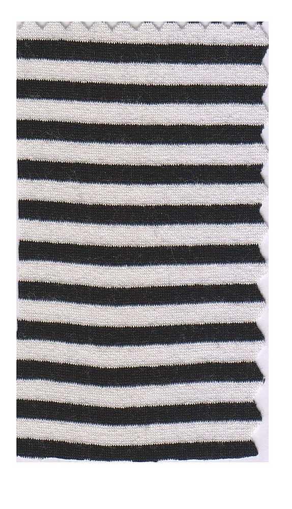 FIE-CW-5207-30 / BLACK/IVORY         / Rayon Spandex Yarn Dye Stripe 200gsm