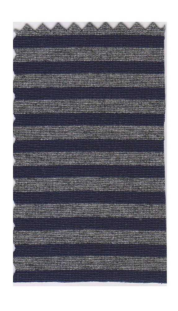 FIE-CW-5207-30 / NAVY/HEATHER                 / Rayon Spandex Yarn Dye Stripe 200gsm