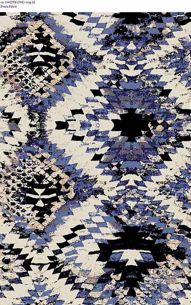 CA-164-30 / BLUE                 / Rayon Spandex Jersey Print 180gsm