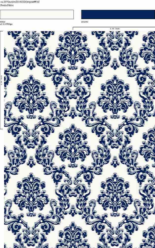 CA-297-35 / BLUE         / 100% Rayon Challis Print
