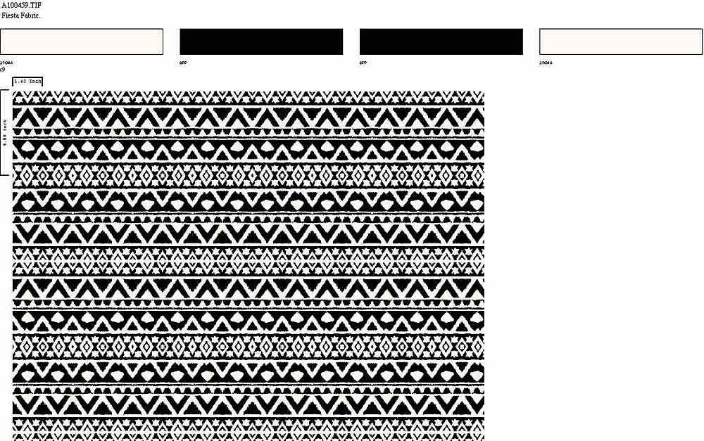 206-A100459-35 / PFD/BLACK         / 100% Rayon Challis Print
