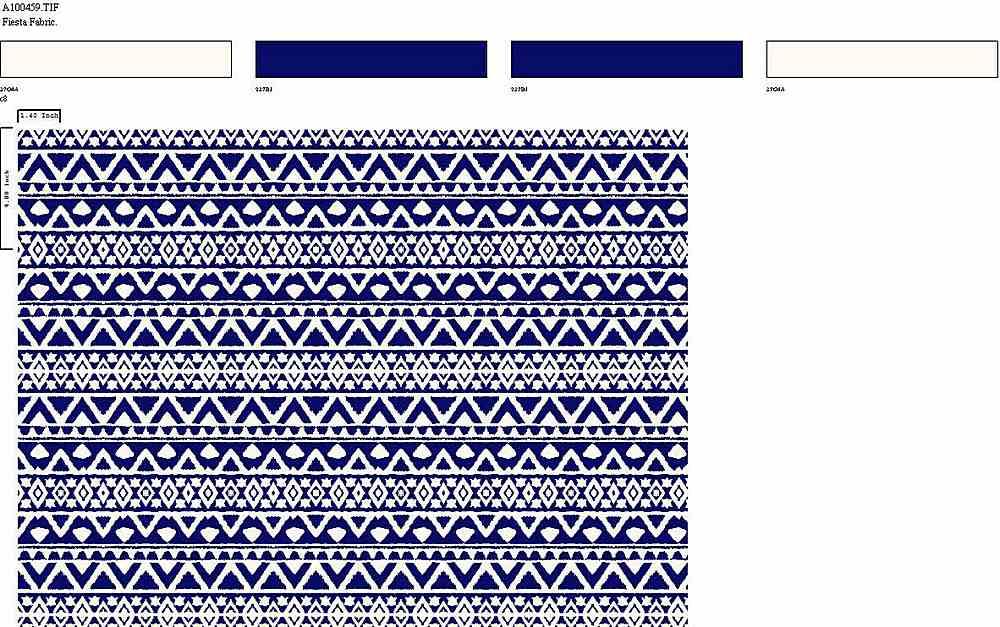 206-A100459-35 / PFD/BLUE         / 100% Rayon Challis Print