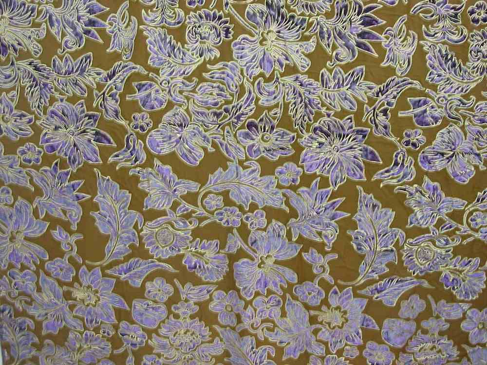 FIE-206-595-15 / GOLD            / 100% Silk VELVET BURN-OUT WITH GOLD PIGMENT