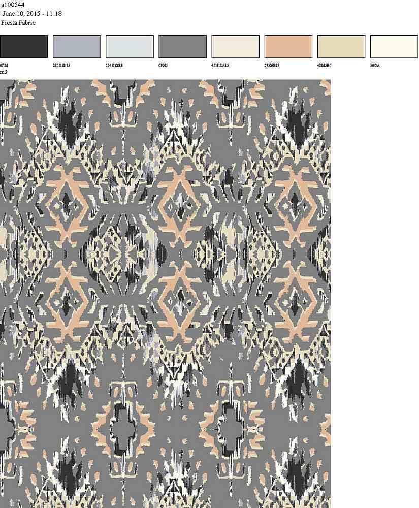 206-A100544-35 / GREY         / 100% Rayon Challis Print