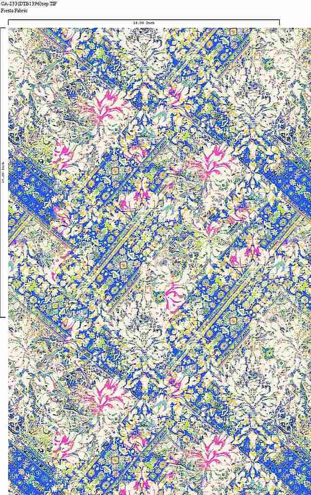 CA-233-64 / ROYAL         / 100% Rayon Gauze Print