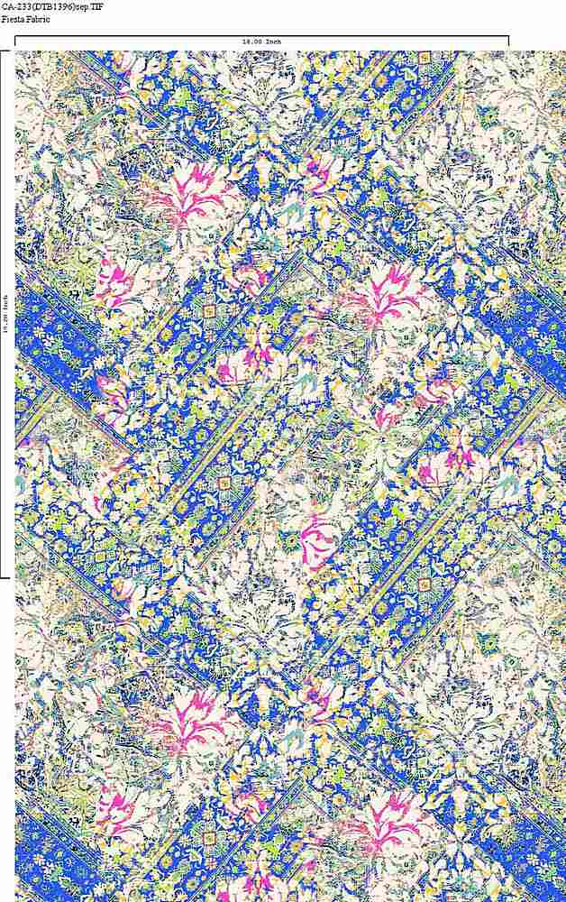 CA-233-30 / ROYAL         / Rayon Spandex Jersey Print 180gsm