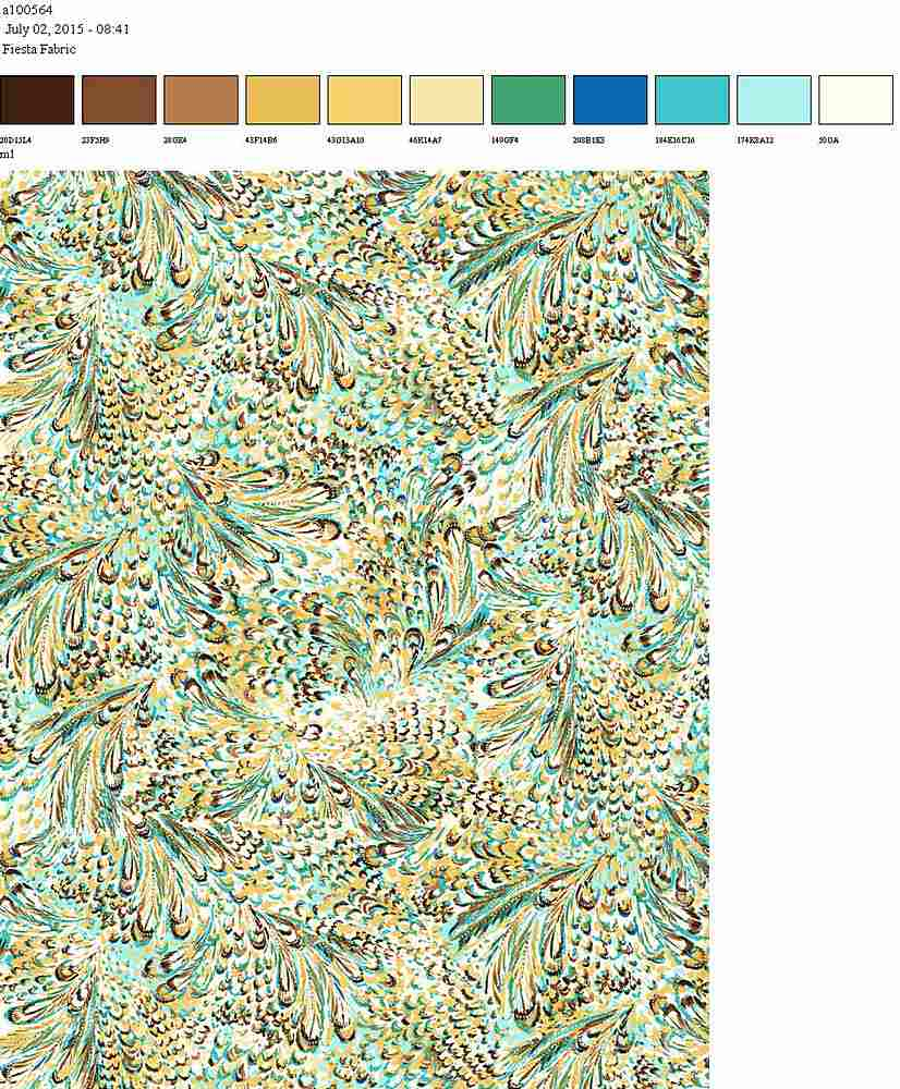 206-A100564-64 / GREEN         / 100% Rayon Gauze Print