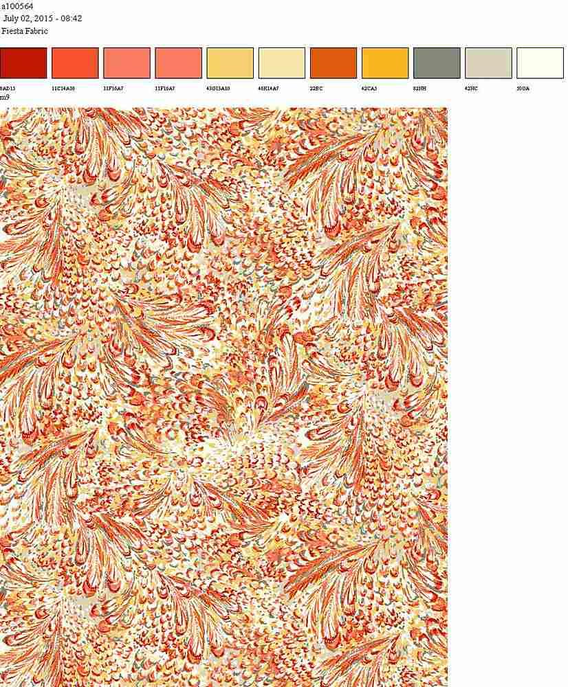 206-A100564-64 / CORAL         / 100% Rayon Gauze Print