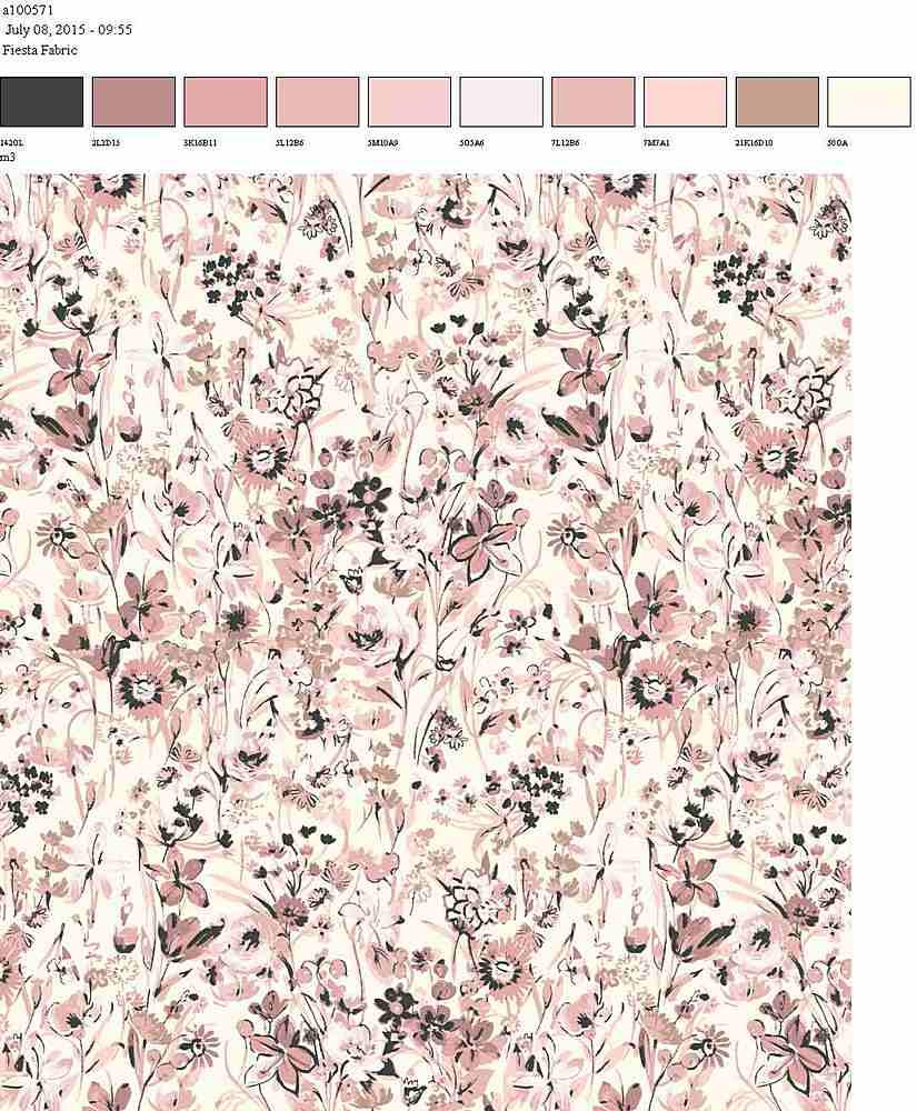 206-A100571-35 / WHITE/BLUSH         / 100% Rayon Challis Print