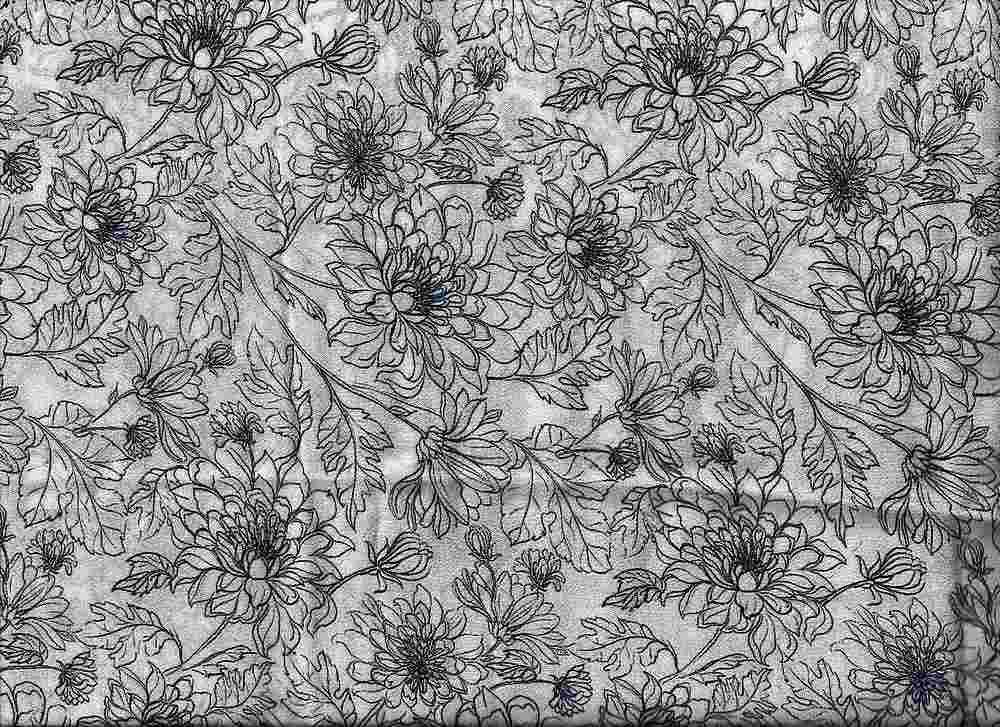 2432-64 / PFD/BLACK         / 100% Rayon Gauze Print