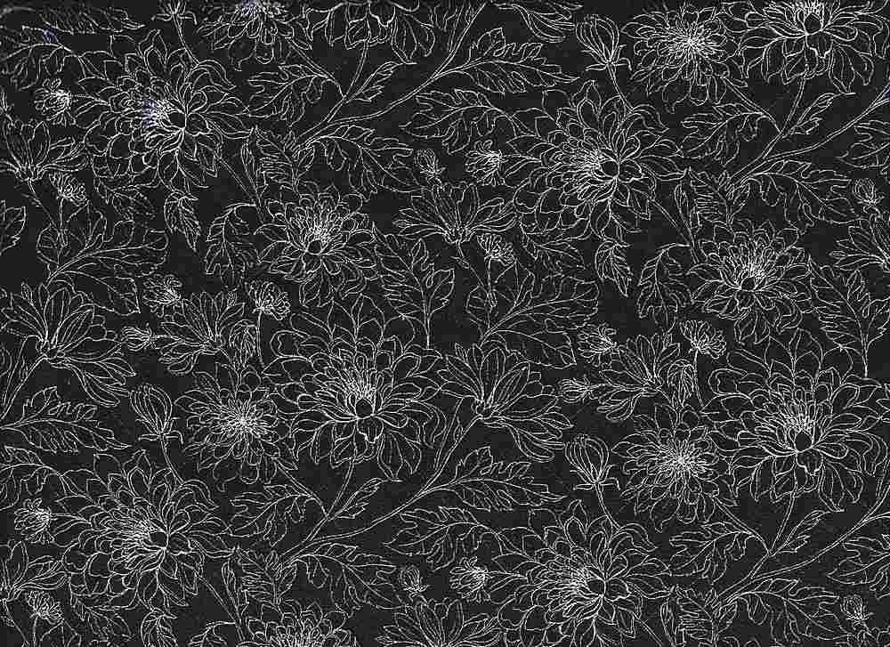 2432-64 / BLACK/PFD         / 100% Rayon Gauze Print