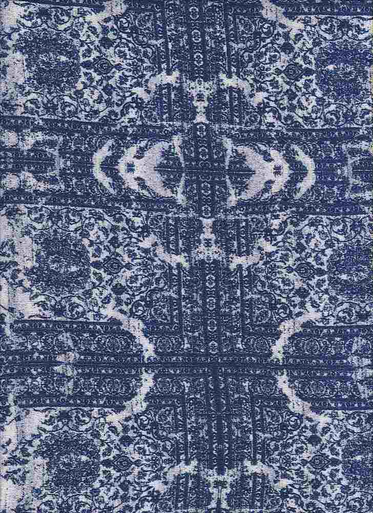 2438-64 / PFD/NAVY         / 100% Rayon Gauze Print