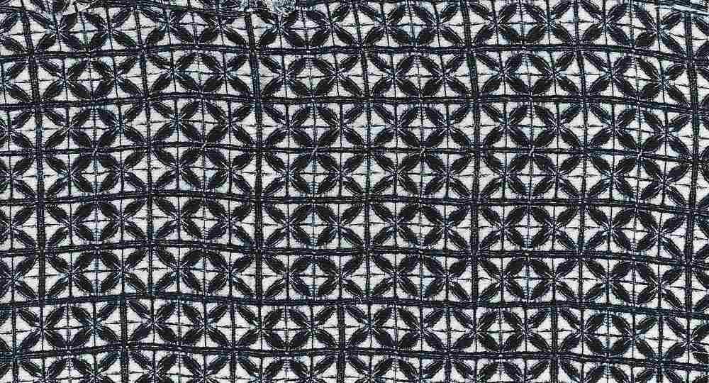 2439-64 / BLACK         / 100% RAYON GAUZE PRINT