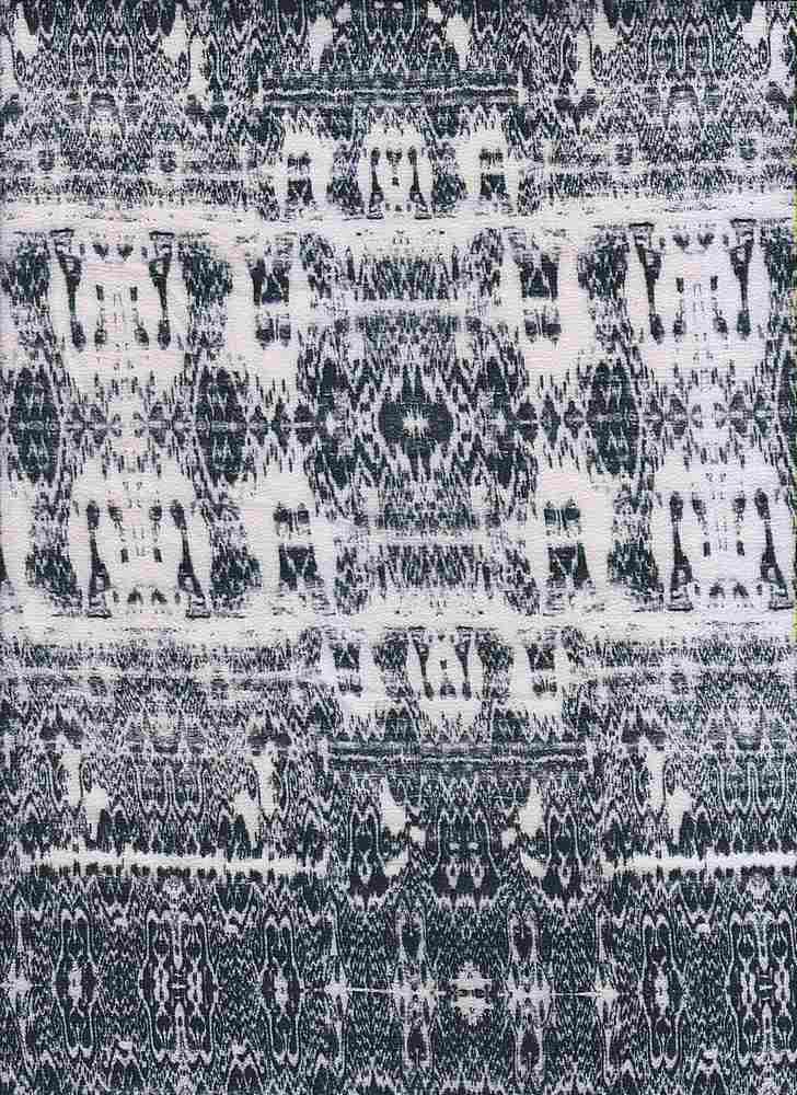 2440-64 / PFD/BLACK         / 100% Rayon Gauze Double Border Print
