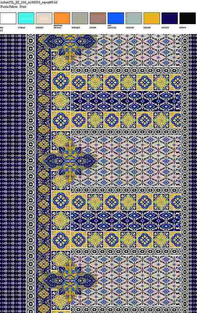 206-A100293-64 / GOLDEN NAVY         / 100% Rayon Gauze Print